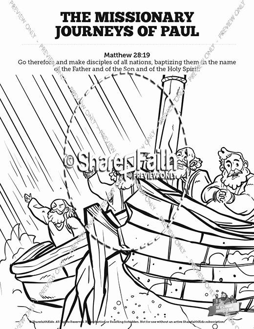 Paul's First Missionary Journey Coloring Page : paul's, first, missionary, journey, coloring, Paul's, First, Missionary, Journey, Coloring, Lovely, Pauls, Sunday, School, Pages,, Paul's, Journeys,, Pages