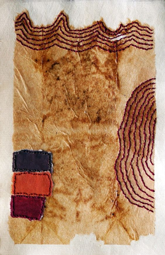 Hand Embroidered Drawing on Teabag no.6 by missouribendstudio, $40.00