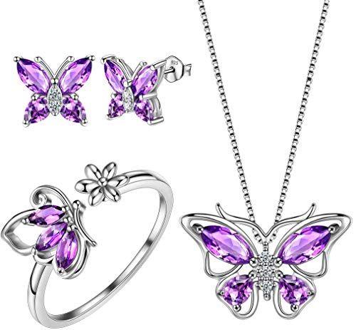 Aurora Tears Key Necklace 925 Sterling Silver Love Jewelry Women Hearts Pendant