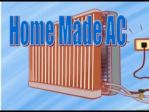 Home Made Air Conditioner Using A Recycle Radiator Youtube Diy