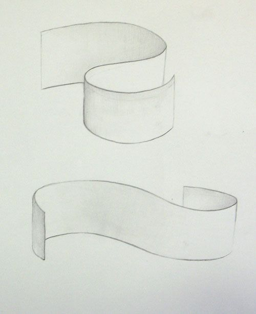 Line Art Ribbon : Drawings ribbons and banners on pinterest