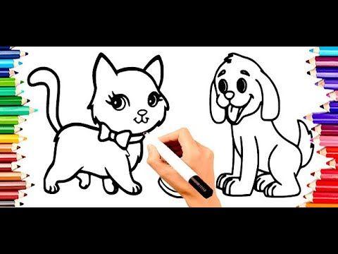 تعليم الاطفال الرسم تعليم الرسم للاطفال تعليم رسم نحلة للمبتدئين خطو Dog Coloring Book Drawing For Kids Coloring Books