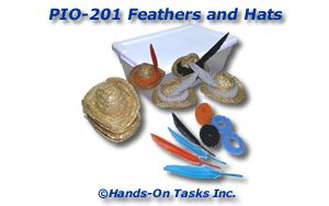 Feathers and Hats Put-On Activity
