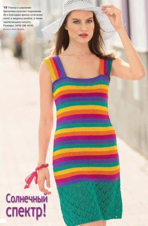 Схема вязания летнего короткого платья