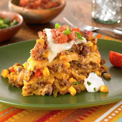 Slow Cooker Beef Tamale Casserole Recipe from Land O'Lakes  Another one that sounds so good.