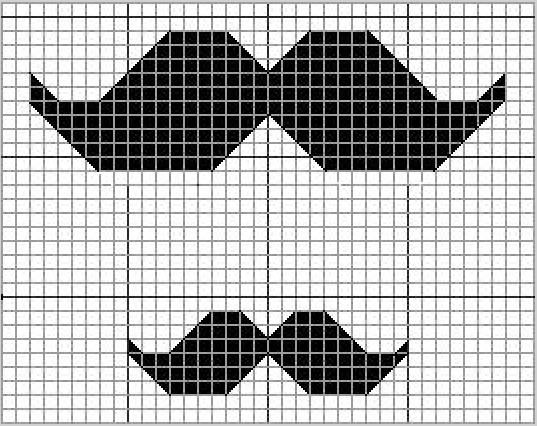 moustache cross stitch pattern Cross stitch charts, Cross stitch - cross stitch graph paper