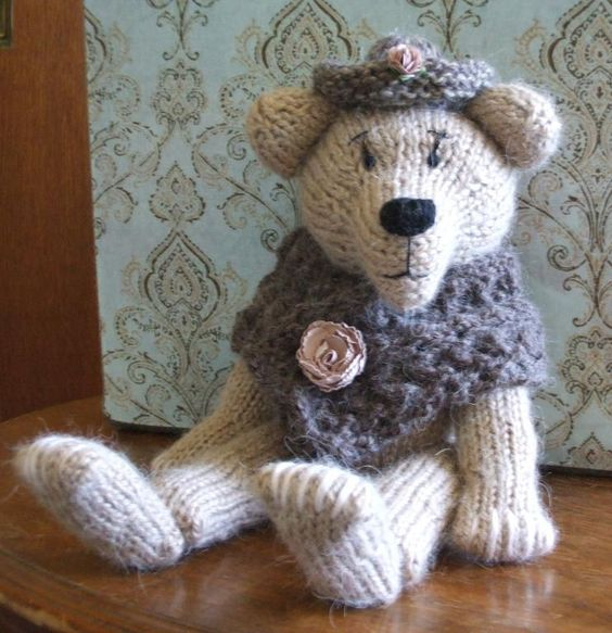 Knitted Bear Hand Knit Bear