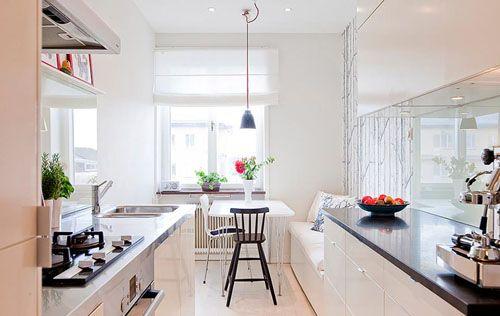 Ideas de muebles de cocina para cocinas estrechas for Mesas para cocinas estrechas