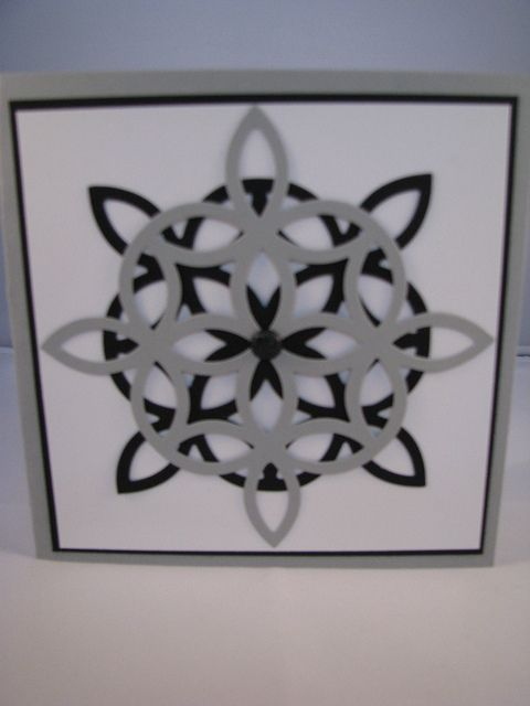 hand crafted card by Beth.Klaine ... black, white and gray ... double die cut trellis ... luv the pattern it creates ... almost a rose window ....Stampin' Up!