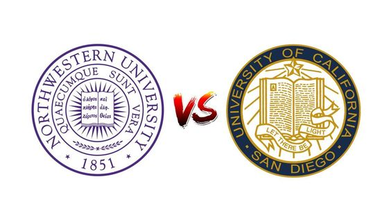 COMPARE NORTHWESTERN UNIVERSITY VS. UNIVERSITY OF CALIFORNIA, SAN DIEGO