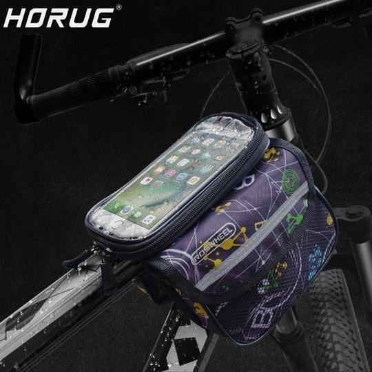 Horug Waterproof Touch Screen Bike Phone Holder Mtb Front Frame
