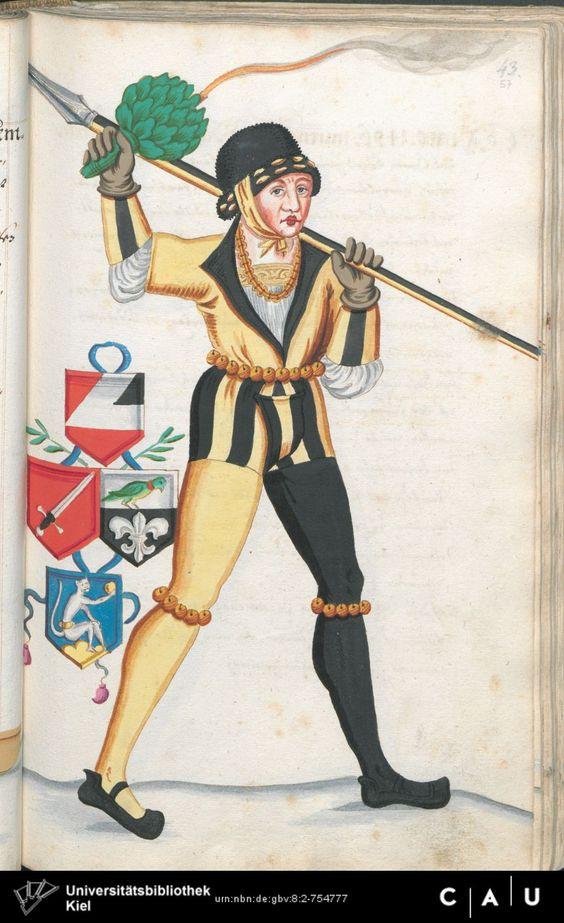 Nürnberger Schembart-Buch Erscheinungsjahr: 16XX  Cod. ms. KB 395  Folio 114