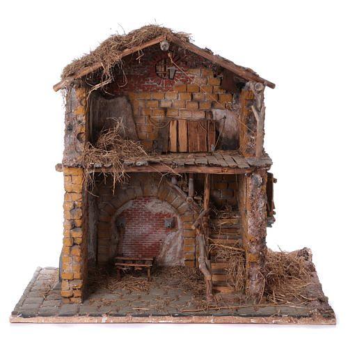 Stalla in legno e sughero per statue 30 cm dim. 105x115x60 cm