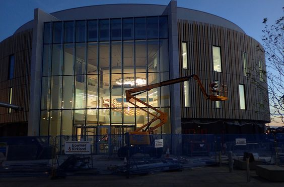 Construction of South Shields' new library The Word is progressing, due to open in October.