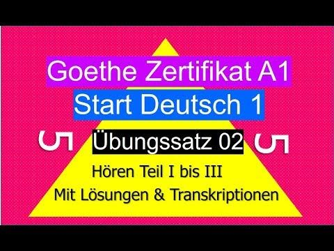Goethe Zertifikat A1 Horen German Listening Exam A1 Youtube