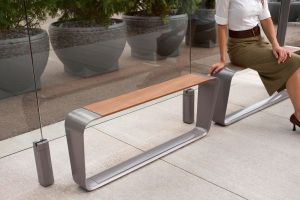 Public bench designed by BMW DesignWorks