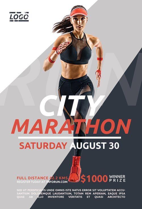 Check Out The City Marathon Free Flyer Template Only On Https Freepsdflyer Com City Marathon Free Fly Fitness Flyer Free Psd Flyer Templates Fitness Branding