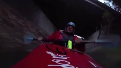 Caméra embarquée sur un kayak à plus de 50 km/h