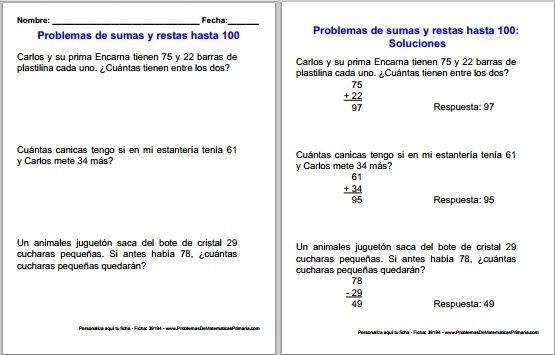 Http Matematicasgratis Com Blog Wp Content Uploads 2015 10 Problemas De Sumas Y Restas Img Jpg Problemas De Sumas Problemas Matematicos Libros De Matematicas