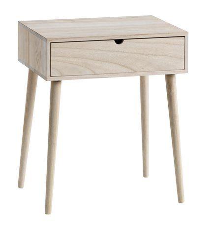 Sängbord ILBRO 1 låda natur | JYSK | Fast målad i vitt/nån färg ...