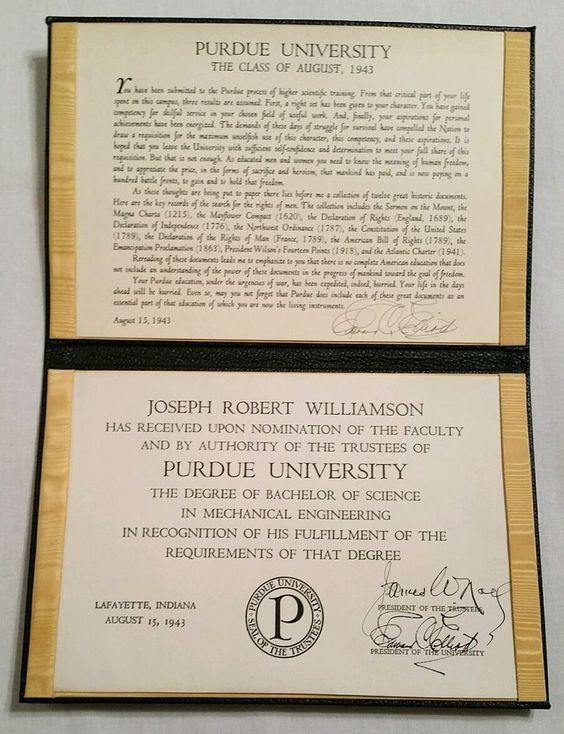 Purdue University Bachelor Of Science Degree Mechanical - boilermaker resume