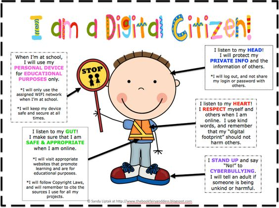 Awesome Digital Citizenship Poster for Young Learners ~ Educational Technology and Mobile Learning: