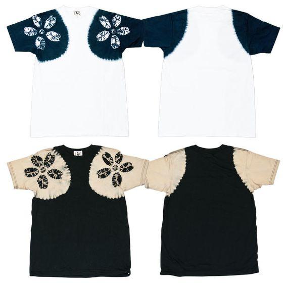 絞り染Tシャツ「櫻刺青染め」
