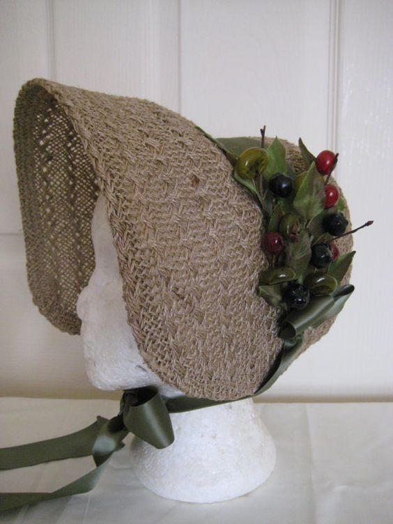 Regency/Victorian Bonnet. Jane Austen. Handmade par RegencyRegalia