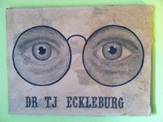 eyes of eckleburg The eyes of doctor t j eckleburg the eyes of doctor t j eckleburg on the billboard overlooking the valley of ashes represent many things at once: to nick they seem to symbolize the haunting waste of the past, which lingers on.