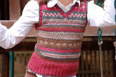 a Friend to knit with: the vest