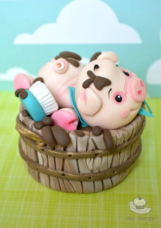 Edible Art. Piggy's Mud Bath Cake.