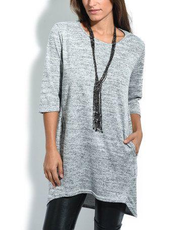 Look at this #zulilyfind! Gray Pocket Tunic #zulilyfinds
