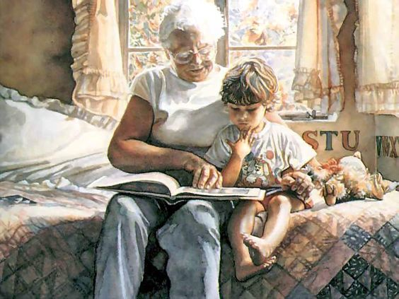 Story Time ... Steve Hanks This painting looks like like my mother, Bonnie Brown. Miss you Mom. And your grandchildren miss you too