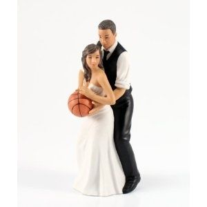 Weddingstar Basketball Dream Team Bride and Groom Couple Figurine for Cakes wedding-products