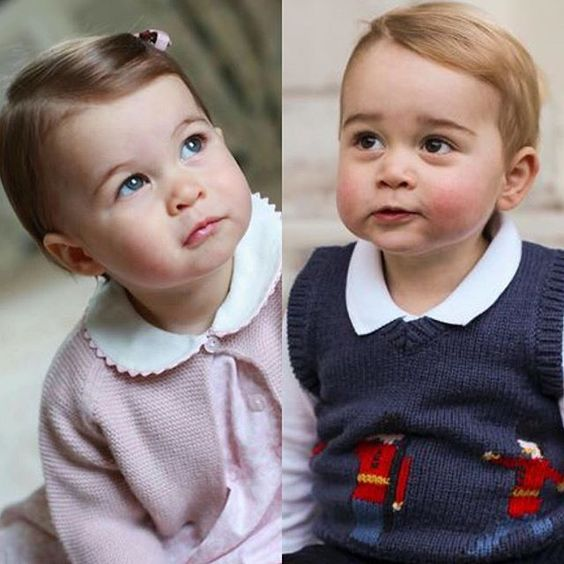 HRH Princess Charlotte and her brother, HRH Prince George