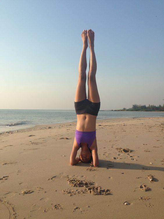 Yoga on beach!!!