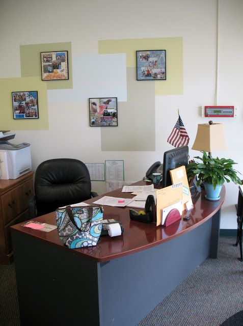 The principal 39 s office offices and las vegas on pinterest for Fun office decorating ideas