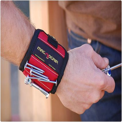 MagnoGrip Magnetic Wristband stocking stuffer - Wonder if this would work with straight pins...
