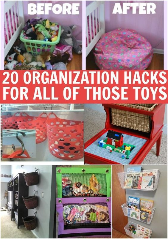 10 Types Of Toy Organizers For Kids Bedrooms And Playrooms: Kids Toys, Organization Hacks And Hacks On Pinterest