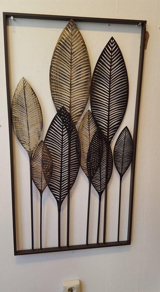 Wanddecoratie Metaal Palm Bladeren Palm Bladeren Doe Het Zelf Wanddecoraties Wanddecoraties