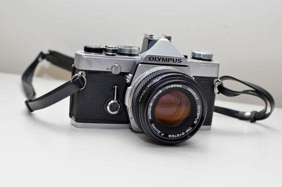 Olympus OM-1 SLR 35mm vintage camera  w/ Zuiko 50mm by vntgwoo