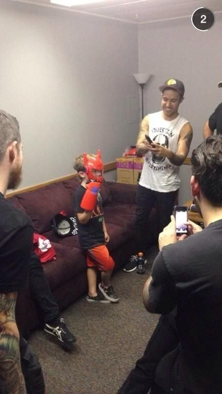 Fall out boy and his little Bronx and Joey and Andy