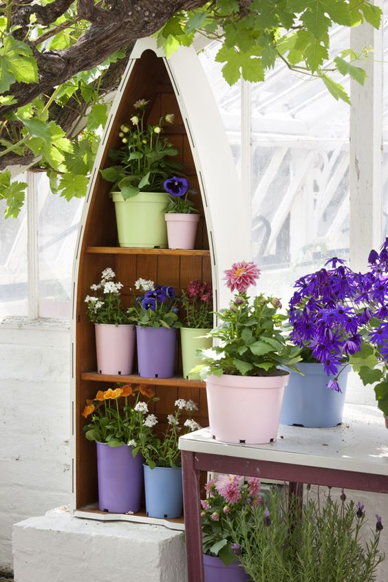 Ordinary plastic plant pots made extra special! We used PlastiKote Outdoor spray paint in Blue Lilac, Rustic Blue, Cameo Pink and Everglade. Find out more on our website!