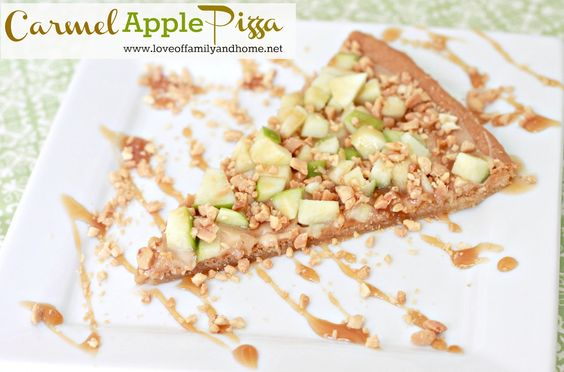Carmel Apple Pizza Recipe via @Tonya @ Love of Family & Home