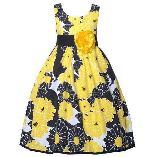 Cute Black Yellow Flower Sleeveless Spring Easter Dress Girls 7-14, http://www.amazon.com/dp/B00HI0KQC2/ref=cm_sw_r_pi_awdm_xJk3sb12SARR9
