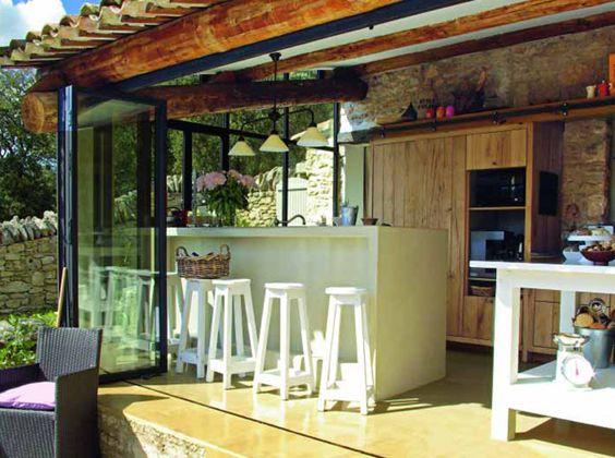 Cuisine ext rieure outdoor kitchen - Cuisine d ete exterieur ...