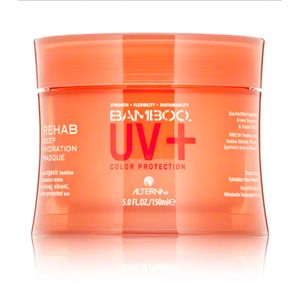 Alterna UV Plus Deep Hydration Masque is the perfect way to  protect your hair from the damaging effects of chlorine or rehydrate your  hair after a swim in the ocean