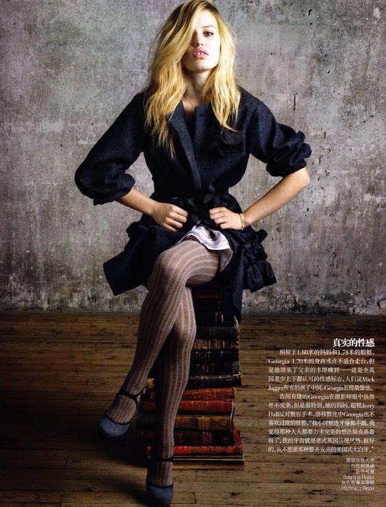 Georgia May Jagger by Max Vadukul for Vogue China July 2010