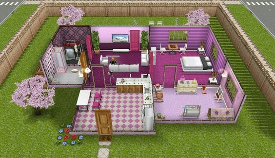Architecture Homes  Sims Freeplay Pink Themed House The Sims Pinterest Rosa  Sims Och House. Sims Freeplay Architecture Homes  House 20 Architect Homes