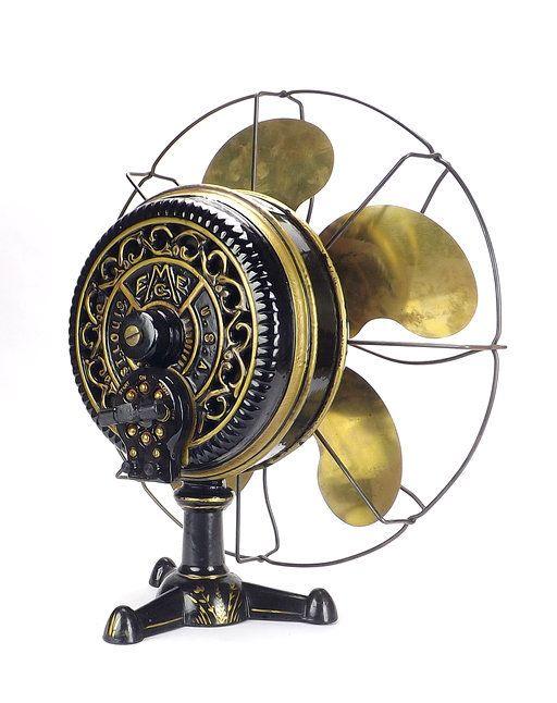 1898 Emerson Tripod Desk Fan Red